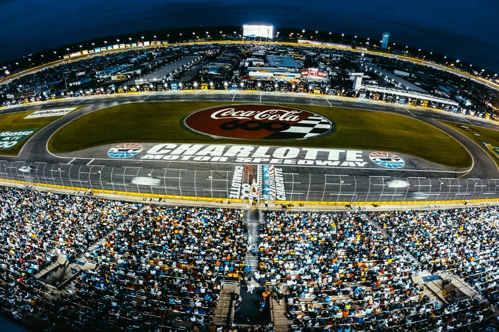 CocaCola 600 at the Charlotte Motor Speedway Aerial Shot
