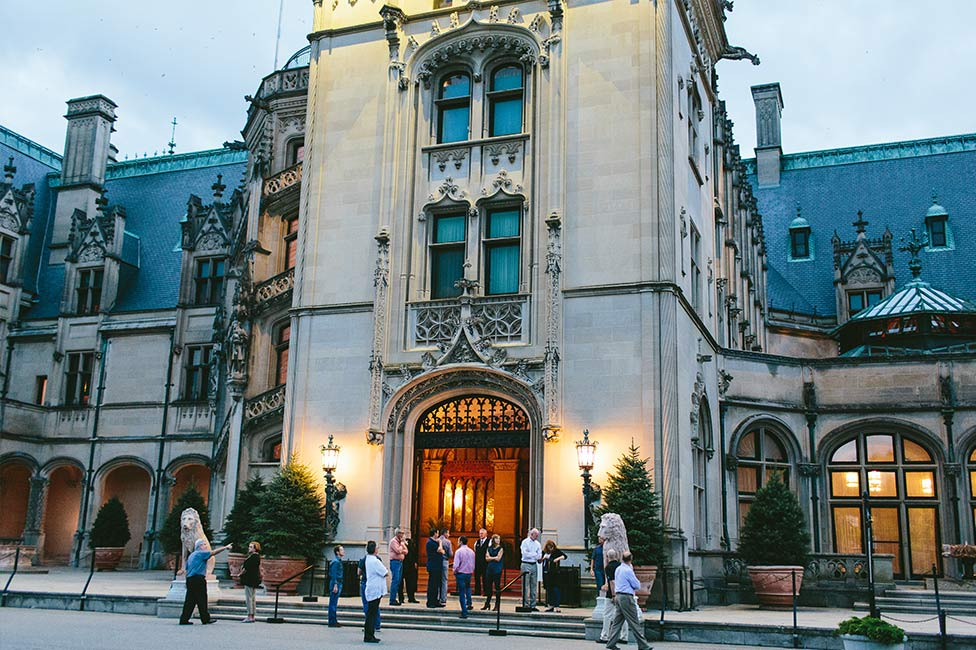 Outer view of Asheville Biltmore House entrance