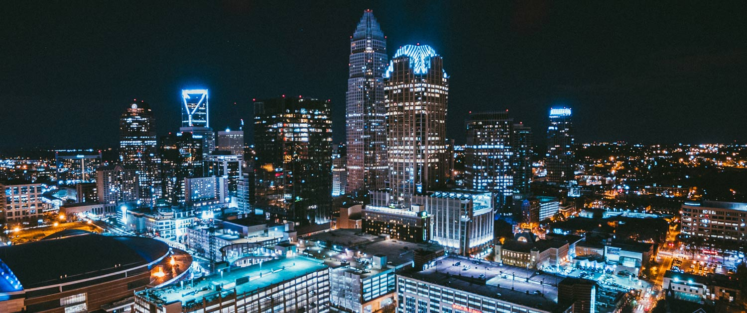 Charlotte, NC Night Skyline