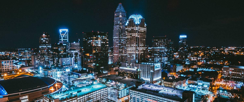 Charlotte, NC Night Skyline