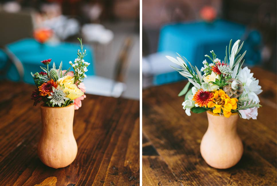 Gourd Flower Arrangement Centerpieces
