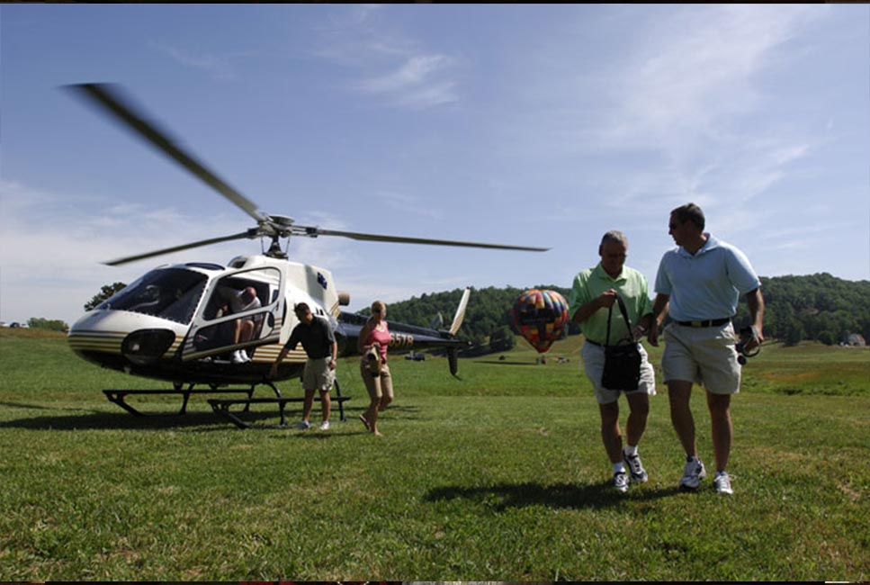 Helicopter and Hot Air Balloon Ride activities