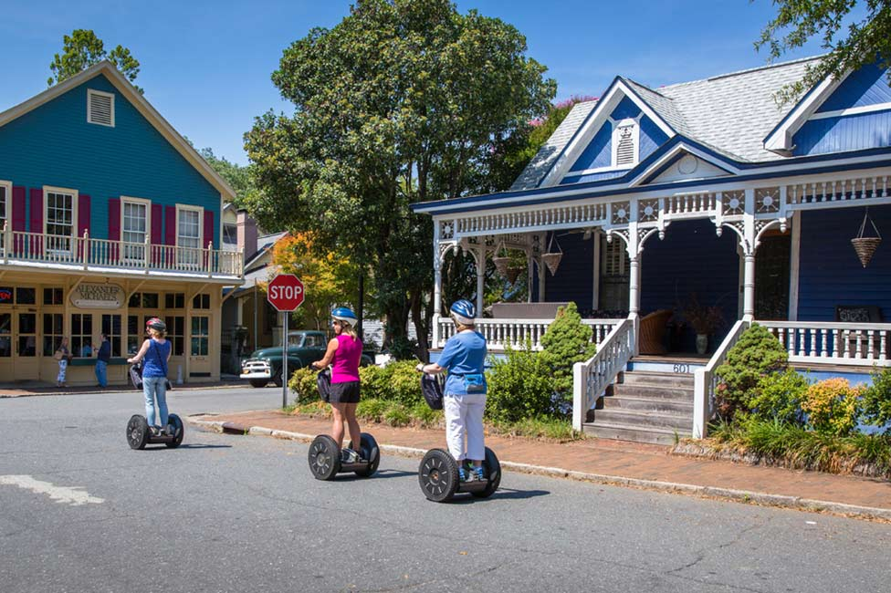 Charlotte group segway tour in historic district