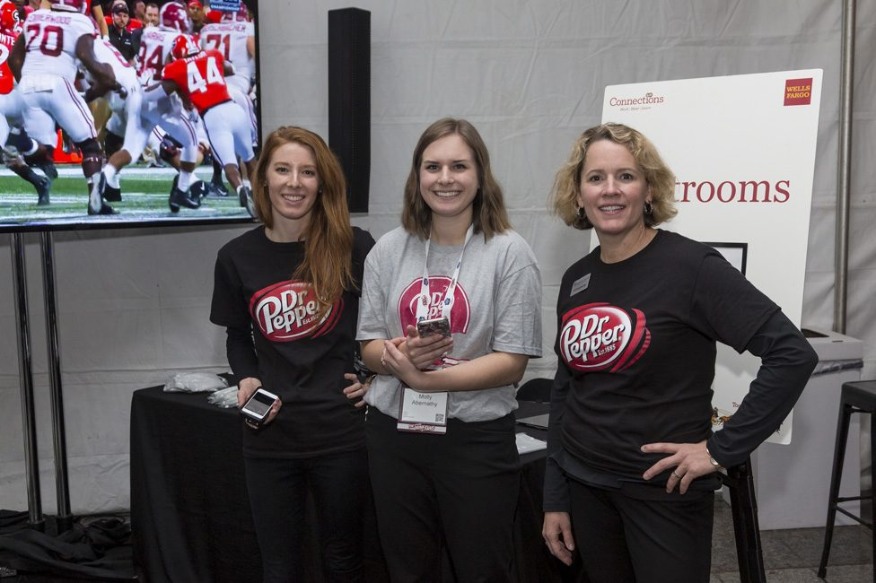 Event staff at Dr. Pepper ACC Pre-game party