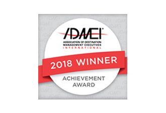 Association of Destination Management Professionals (ADMEI) Achievement Award 2018