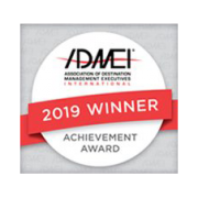 Association of Destination Management Professionals (ADMEI) Achievement Award 2019