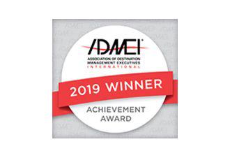 Association of Destination Management Professionals (ADMEI) Achievement Award 2019