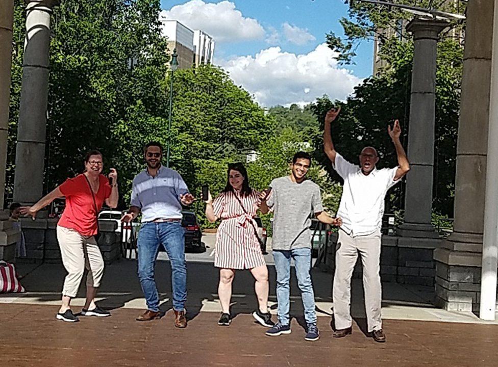 Asheville Urban Adventure Team Building Dance Challenge
