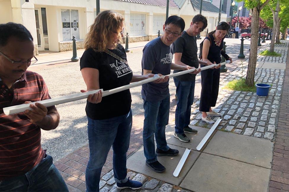Asheville Urban Adventure Team Building Ball Drop Challenge