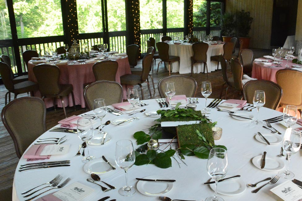 Formal Garden Party Table Settings