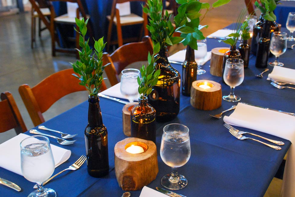 Corporate event decor and centerpieces