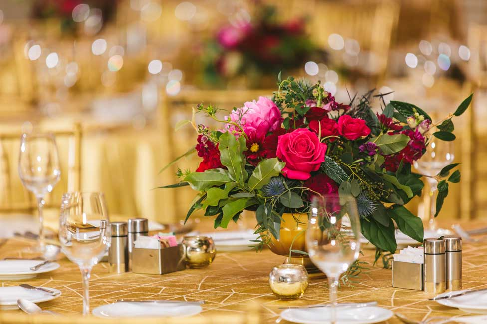 Formal Floral Decor for Corporate Dinner