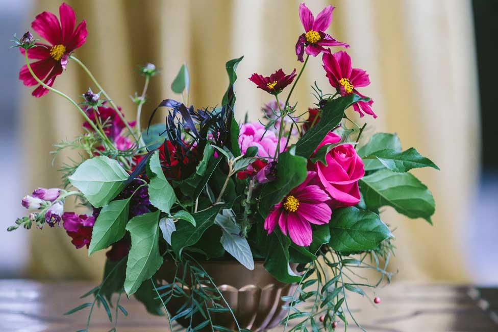 Formal Fresh Floral Decor for Corporate Dinner